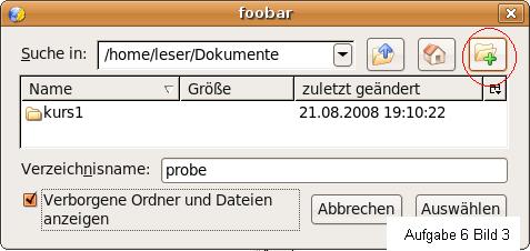 Bild 3 Neues Verzeichnis bei Ubuntu erstellen